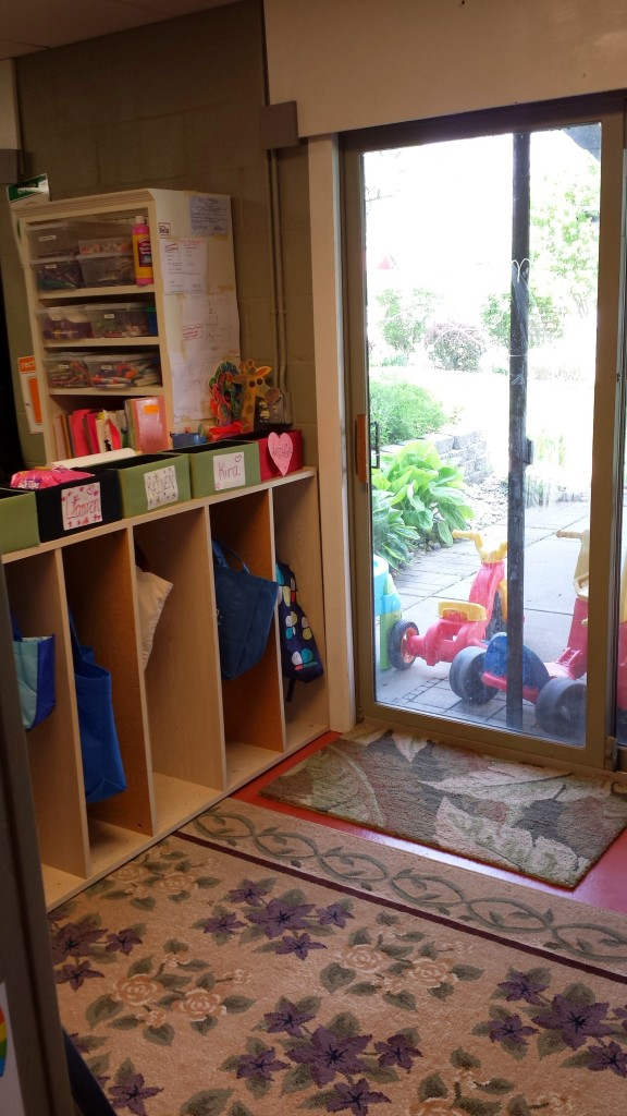 Each child has their own cubby